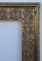 FRAME ITALIAN CARVED FANCY CASETTA LARGE BRONZE GILT REPO FITS 21 X 25.75 INCHES