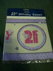 ME TO YOU  Tatty Teddy 21st birthday Banner in lilac and yellow