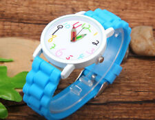 Geneva Women Ladies Soft Jelly Silicone Quartz Sports Girl Kids Wrist Watch New