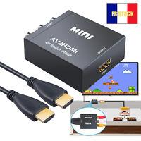 Convertisseur AV vers HDMI composite CVBS RCA vers 1080P Adaptateur audio HDMI