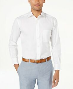 New Club Room Men's White Regular Fit French Cuff Dress Shirt