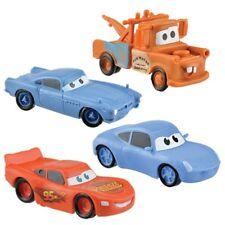 "Disney Cars (Set Of 4) 2-1/2"" Birthday Cake Topper Figurines Toy Set Lighting Mc"