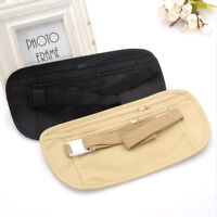 Travel Pouch Hidden Wallet Passport Money Waist Belt Bag Slim Secret Security 1X