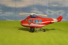 Vintage Tin Litho Wind Up Vehicles -  Fire Chief Helicopter