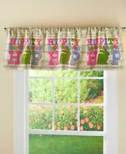 Colorful EASTER EGG BUNNY RABBIT WINDOW VALANCE Pastel Country Kitchen Bathroom