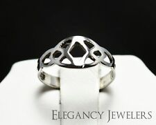 Adjustable Dainty .925 Sterling Silver Celtic Irish Knot Summer Toe Ring