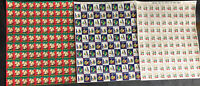 3 SHEETS (100 each)  MNH American Lung Assoc CHRISTMAS SEALS/ SEE IMAGES 1207