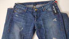 NEW Women's True Religion Jeans Joey Low Rise Flare W/ Flaps size 30