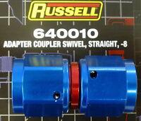 Russell 640010 Female Adapter Swivel Coupler -8AN #8  AN8 Straight Blue