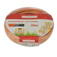 "Garten&Freizeit Gartenschlauch 1/2"" 20m Wasserschlauch Bewässerung rot/gelb NEU"