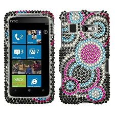 Bubble Crystal Bling Hard Case Cover for HTC Surround