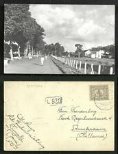 Tjimahi Cimahi rppc Railway Station Java Indonesia stamp 1926