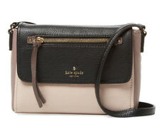 """KATE SPADE COBBLE HILL MINI TODDY LEATHER CROSSBODY """"ROSECLOUD/BLK/PORCINI"""" NWT!"""