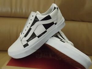 Vans Old Skool Leather Check Women's Shoes Size 5.5 True White/Black VN0A4BV5TPL