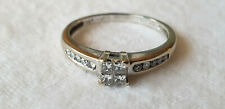 18ct YELLOW GOLD & DIAMONDS (35pts) RING - SIZE O - 2.8 grams