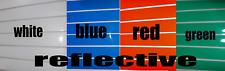 "Six Reflective Strips Stripes Stickers  8"" x 1"" Hazards Signs Crafts Sticky Tape"
