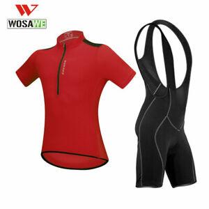 Men's Cycling Jerseys Bib Shorts Outfit Bike bicycle short sleeve Set Riding