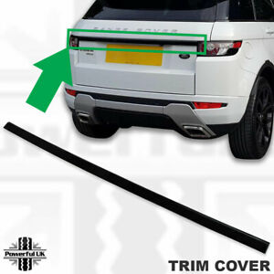 Styling trim tailgate boot strip cover in Black for Evoque pure prestige trunk