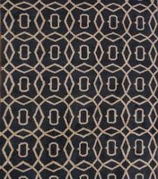100% Wool Hand-Knotted Charcoal Circles 8x10 Moroccan Oushak Oriental Area Rug