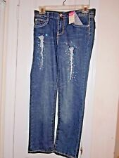 Womens / Misses Size 12 Jeans Blue Designer Makaveli Tupac New With Tags 60% OFF
