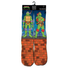 Odd Sox Men's Ninja Turtles Socks Multi-Color TMNT Mutant Ninja Turtles