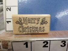 Stampin Up! Merry Christmas saying holly outlined Rubber Stamp 35E