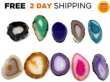 12 AGATE SLICES Crystal Stones AUTHENTIC Slice LOT Geode Brazil Set  SUPER LARGE