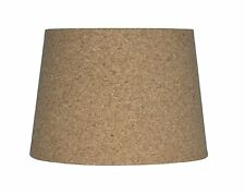 Urbanest Cork Drum Lampshade, 10-inch By 12-inch By 8.5-inch, Spider Fitter