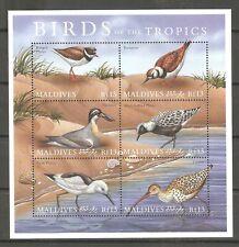 Vögel Triel Regenpfeifer Reiherläufer ua. Malediven 3495/00 postfrisch
