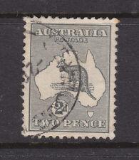KANGAROO: 2d GREY 1ST WMK V.F.USED.