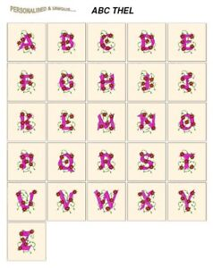 abc THEL CD or USB machine embroidery design alphabet fonts most formats pes etc
