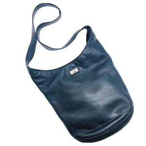 THE SAK Black Leather Hobo Shoulder Bag Purse Beautiful Large