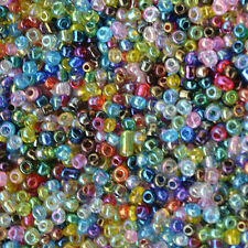 Jewelry Making DIY 1000pcs 2mm Lot Czech glass seed beads AB MIXED About 15G
