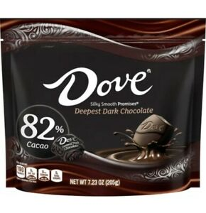 Dove Promises Deepest Dark Chocolate 82% Cacao 7.23oz Bag FREE SHIPPING