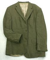 OSCAR DE LA RENTA Brown Silk Wool Tweed Sport Coat Suit Jacket Men's 46R