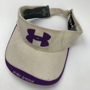 Under Armour White Purple Women's Visor Cap Hat Adjustable