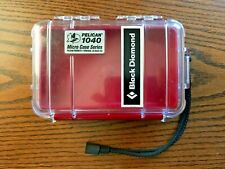 Pelican 1040 Micro Case Waterproof Red/Clear Black Diamond iPhone Camera GoPro
