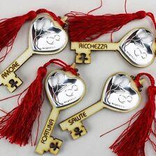 DLM25301 Chiave Portafortuna in Legno per 18 Compleanno Rosso (kit 12 pezzi) bom