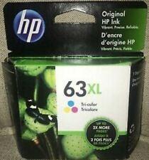 HP #63XL Color Ink Cartridge F6U63A GENUINE NEW