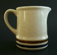 Suncraft Stoneware Japan Cream Pitcher Creamer Brown Cobalt Blue