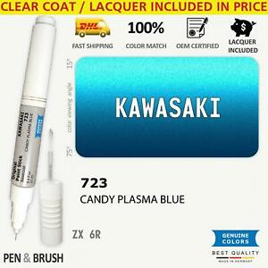 723 Touch Up Paint for Kawasaki Blue ZX 6R KAW/528 528 CANDY PLASMA BLUE Pen Sti