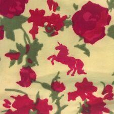 LuLaRoe OS Legging Cream Yellow Pink Green Rose FLORAL ACTUAL HIDDEN UNICORN NEW