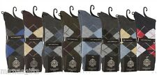 WHOLESALE LOT 12 PAIRS MEN'S DRESS SOCKS  ASSORTED COLORS CHECKERED  SIZE 10-13