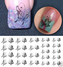 Black Butterfly Nail Art Waterslide Decals - Salon Quality