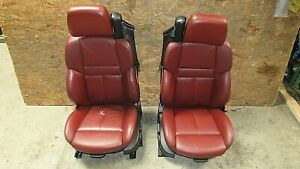 2006-2010 BMW E64 M6 M Convertible Front Seat Pair Indianapolis Rot OEM 12350