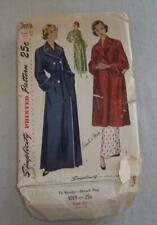 Vintage Women Sewing Pattern Robe 1949 Simplicity 3019