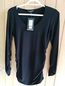 ISABELLA OLIVER BLACK MATERNITY TOP. BRAND NEW SIZE 1
