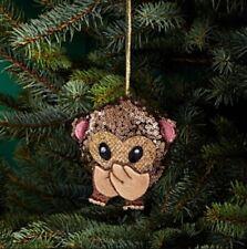 Bloomingdale's Christmas - Sequin Say No Evil Monkey Emoji Ornament #187