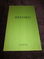 "Federal Supply Ruled Green Cloth Bound Record Book 14"" x 8.5"""
