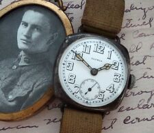 Men's WWI Sterling Patria Wire Lug Trench Watch w/Original Strap - SERVICED